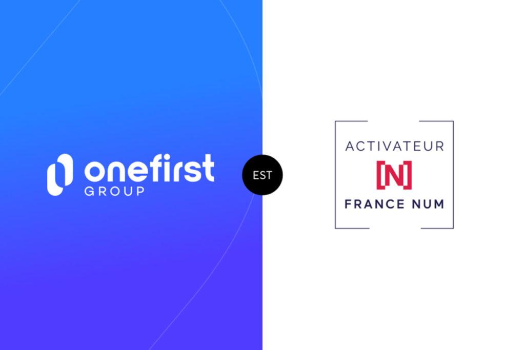 Logo Onefirst et logo Activateur France Num
