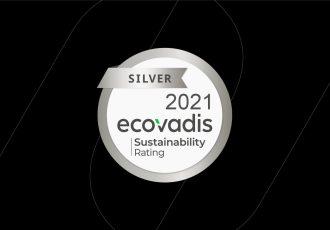logo Certification Silver ecovadis sur fond noir